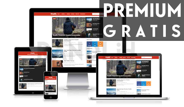 Simplify 2 Red Premium Responsive Blogger Template
