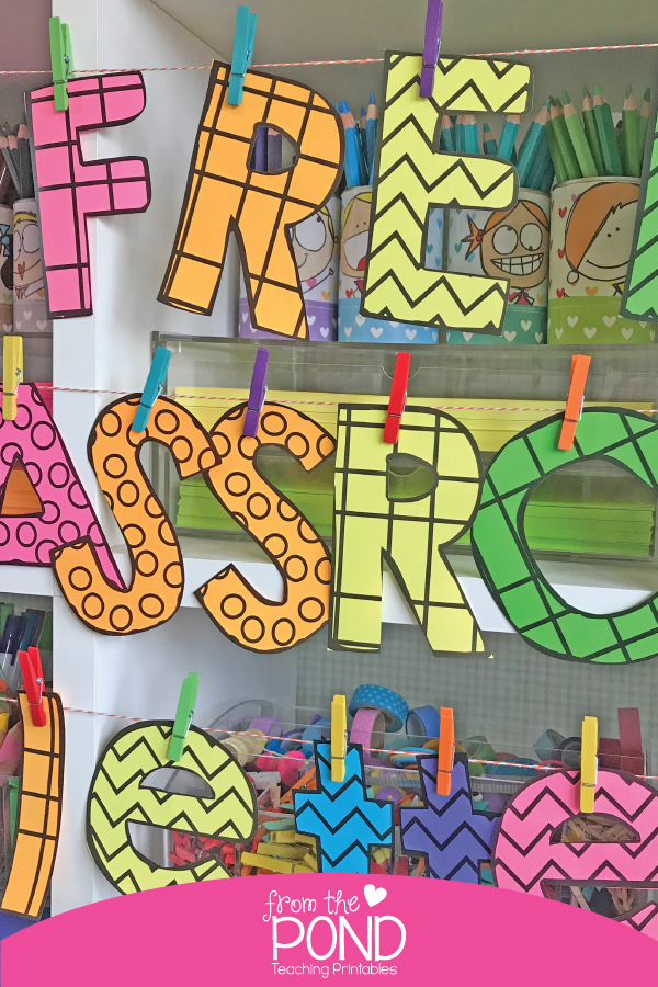FREE Bulletin Board Letters for the Classroom