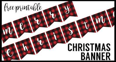 free printable christmas bunting