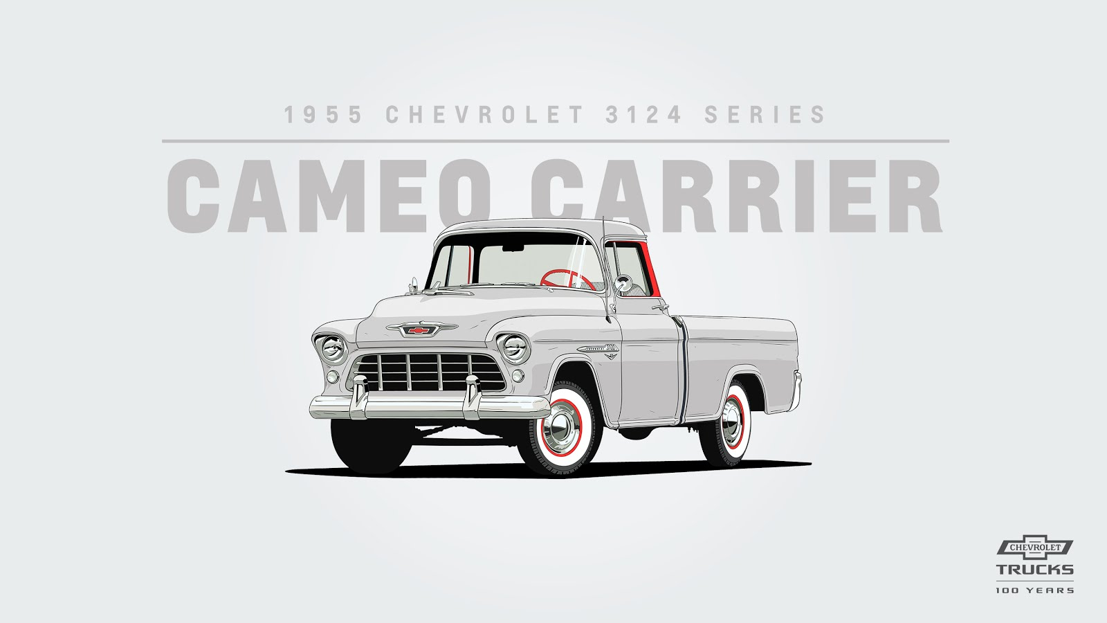 producing 123 horsepower with its 3 85l i 6 engine the 1955 chevrolet 3124 series was the first fleetside flat sided truck in the industry  [ 1600 x 900 Pixel ]