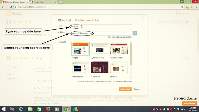 How to Create Free blog Step By Step