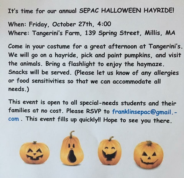 SEPAC Halloween Hayride - Oct 27, 4:00 PM