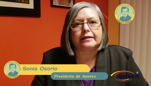 VIDEO: Clase Virtual con presidente de Apevex Sonia Osorio sobre emprendimiento en medios digitales.
