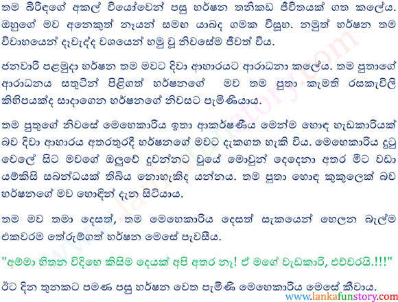 Sinhala Fun Stories-Silver Spoon-Part One
