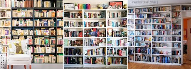 Biblioteca na decoração- Estantes decoradas