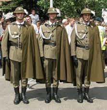 Militlary Uniforms  - Polish Soldiers - Ceremonial Parade of Podhale Rifles Regiment