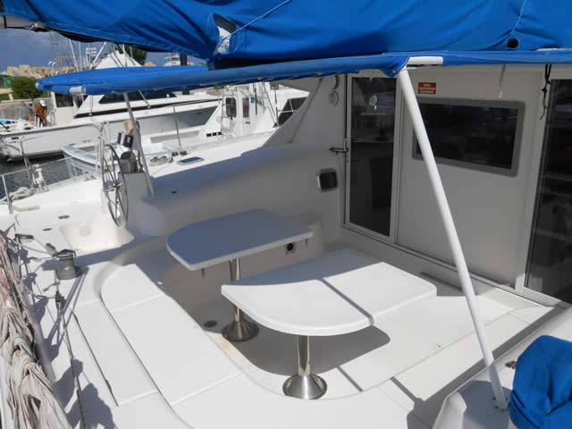 comida en catamaran