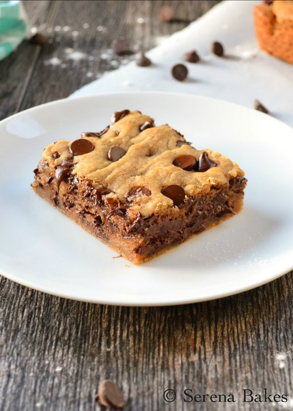 Brown Butter Blondies recipe has a soft chewy center, and crispy edge! Absolutely delicious for dessert, Christmas cookie trays, or Super Bowl from Serena Bakes Simply From Scratch.
