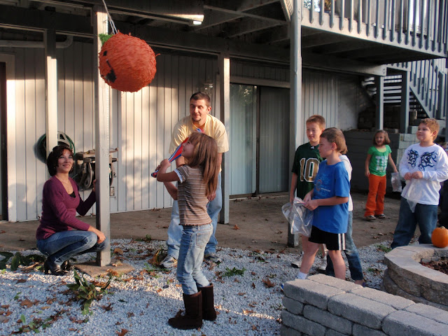 Kids, children, all ages, pinata, pumpkin