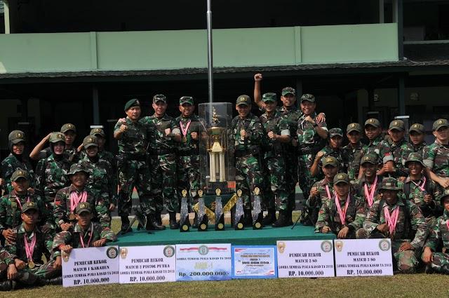 Divisi 1 Kostrad Juara Umum Lomba Tembak Piala KASAD 2018