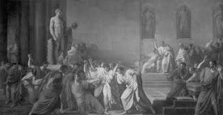 Lukisan Pembunuhan Yulius Caesar oleh Brutus