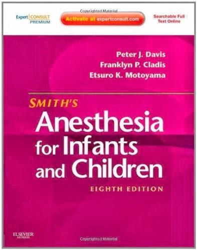 Smith Gây mê cho trẻ sơ sinh và trẻ em 8e