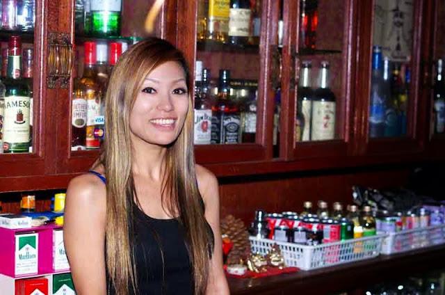 pretty girl, bartender