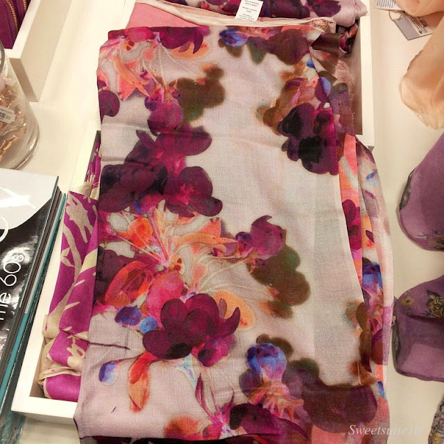 Floral scarf at Chapters