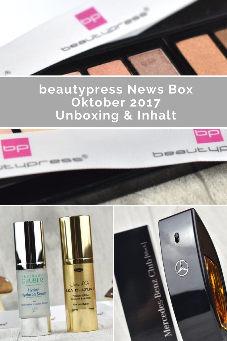 beautypress News Box Oktober 2017 - Unboxing und Inhalt
