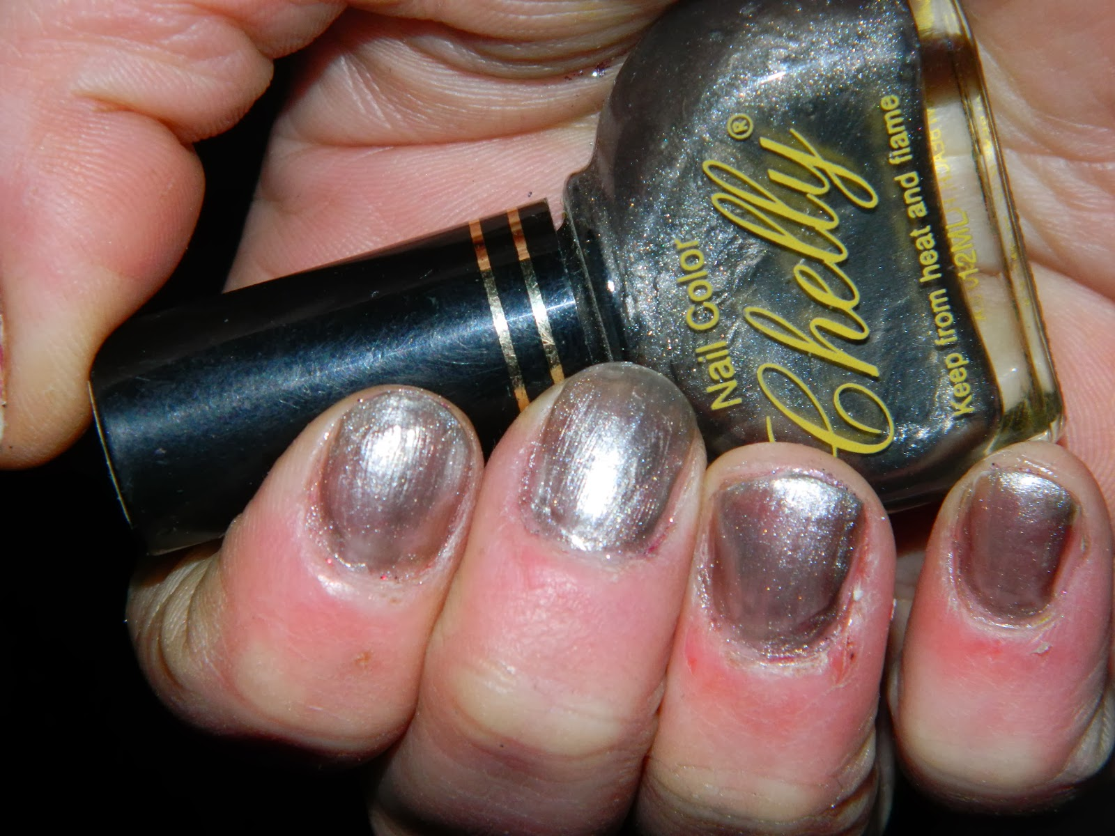 Nail Polish With Glitter 90s Hession Hairdressing