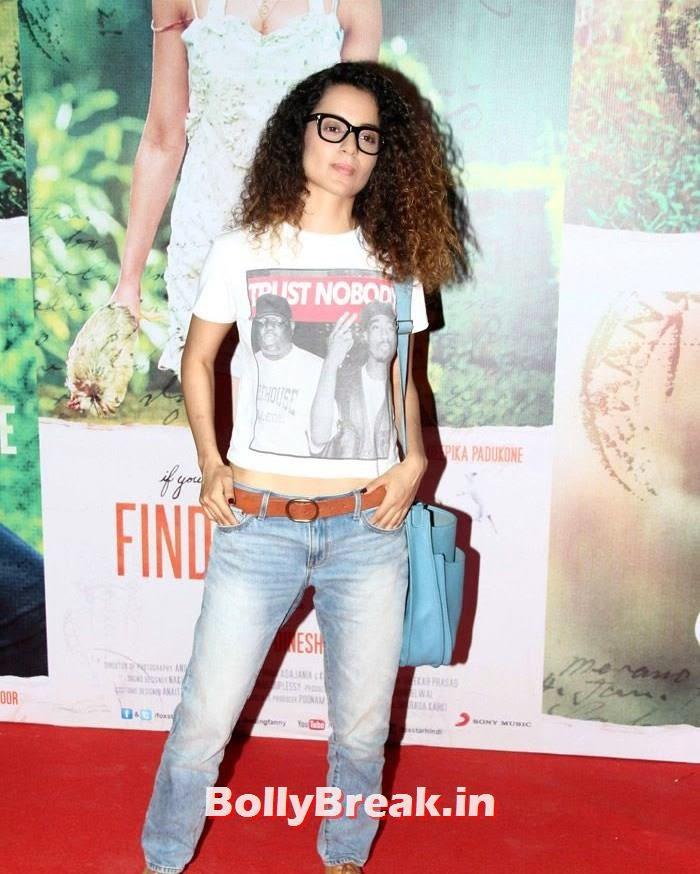 Kangna Ranaut, Kangna, Mughda, Kriti attend 'Finding Fanny' Special Screening