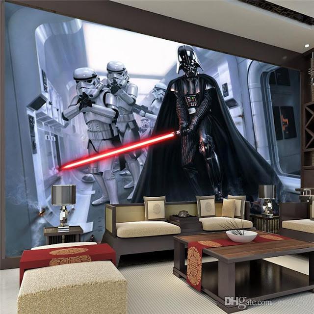 Star Wars Tapetti Valokuvatapetti Poika Huone Poikien Tapetti Darth Vader
