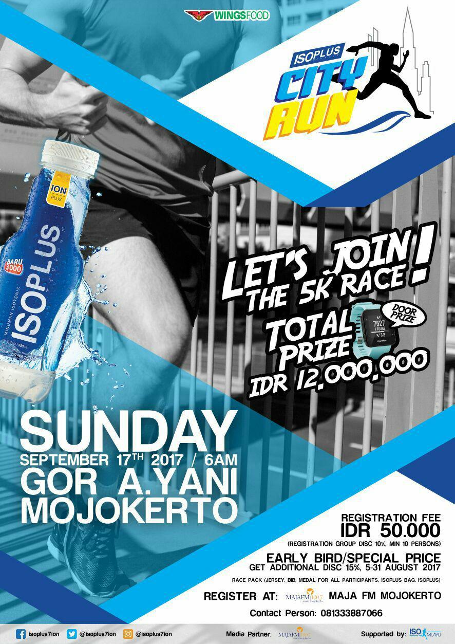 Isoplus City Run - Mojokerto • 2017