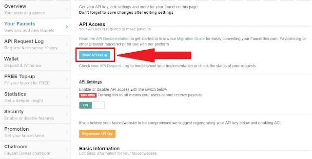 شرح التسجيل في faucethub و الحصول على API لانشاء حنفية بيتكوين