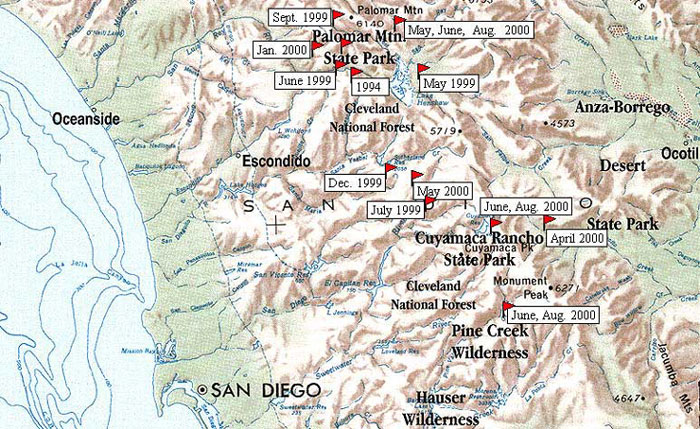 Bicycle Camping In San Diego County Layout Of The Land San Diego