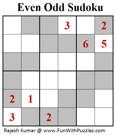 Even Odd Sudoku (Mini Sudoku Series #97)