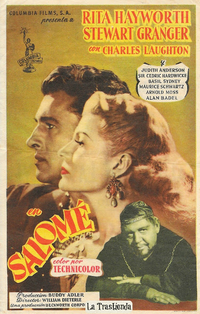 Salomé - Programa de Cine- Rita Hayworth - Stewart Granger - Charles Laughton