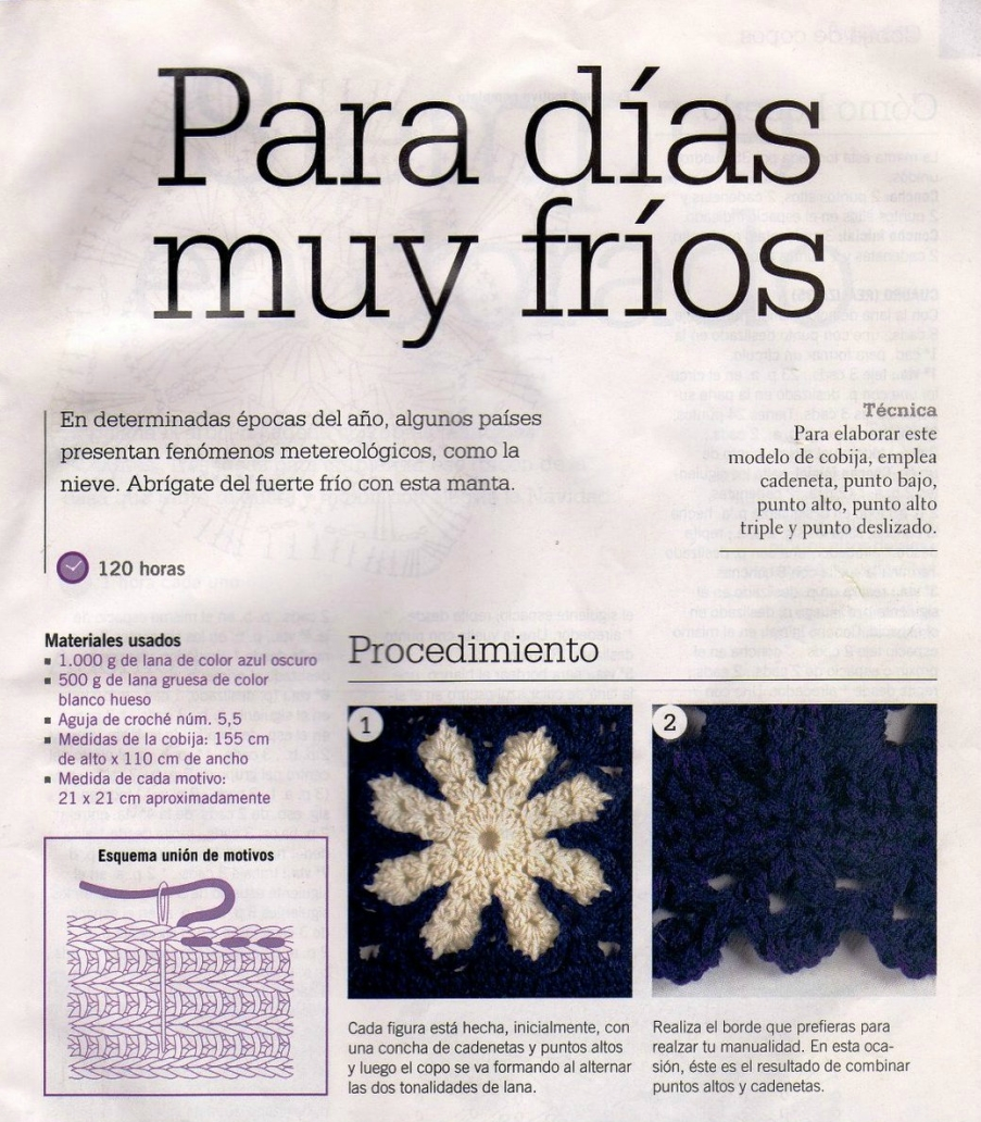 mantas, copos de nieve, ganchillo, crochet, tutorial, patrones