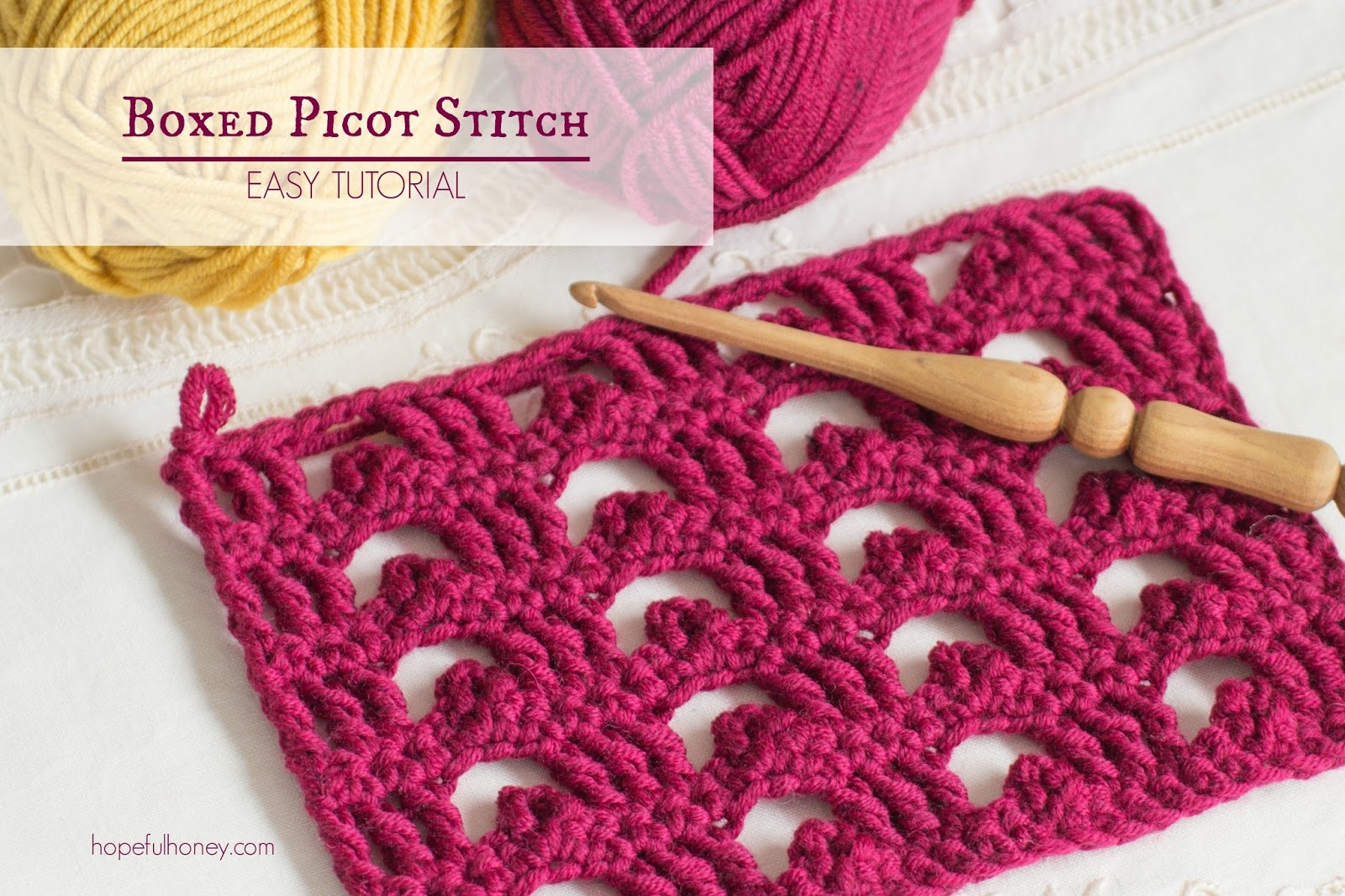 Crochet Stitches Picot : ... Crochet, Create: How To: Crochet The Boxed Picot Stitch - Easy