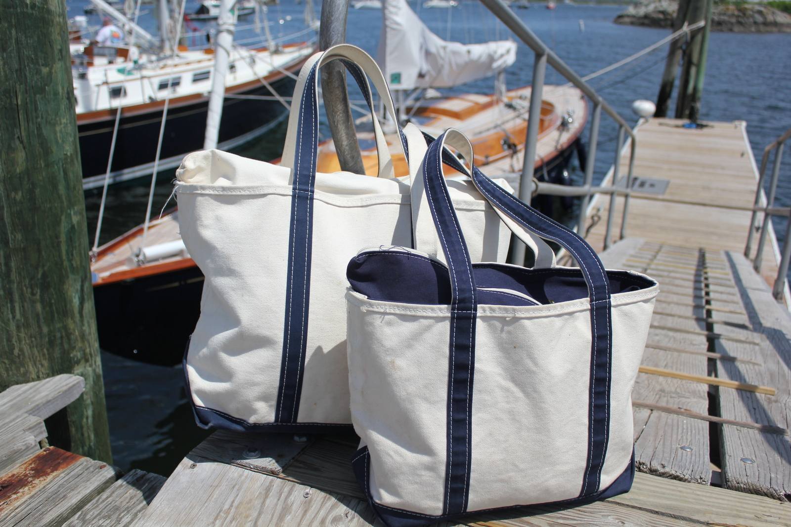 51082c4632d1 Salt Water New England  Canvas Boat Bags and The L.L. Bean Boat and Tote Bag