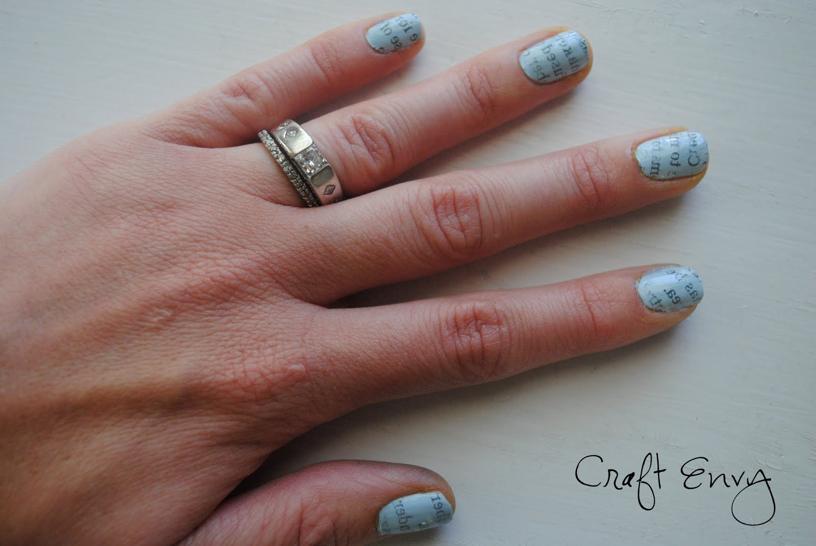 Craft Envy: Newspaper Nails