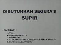 Lowongan Kerja Sopir PT Prima Bhakti Idaman