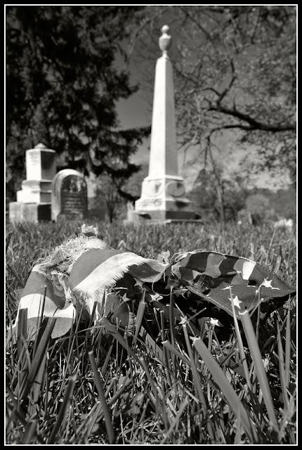 Northside; Cincinnati; Flag; Graveyard; Tombstone