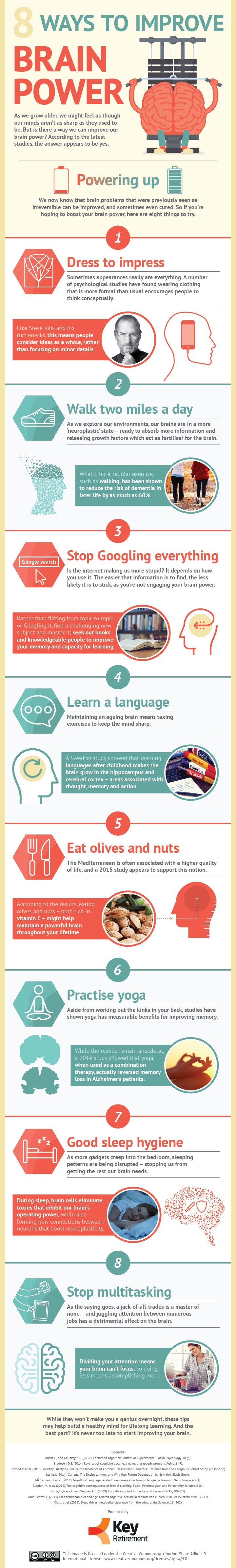 8 Ways to Boost Your Brain Power #Infographic