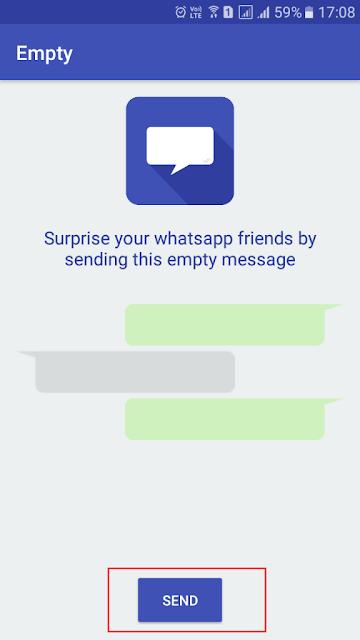 Trik Untuk Mengirim Pesan Kosong di WhatsApp