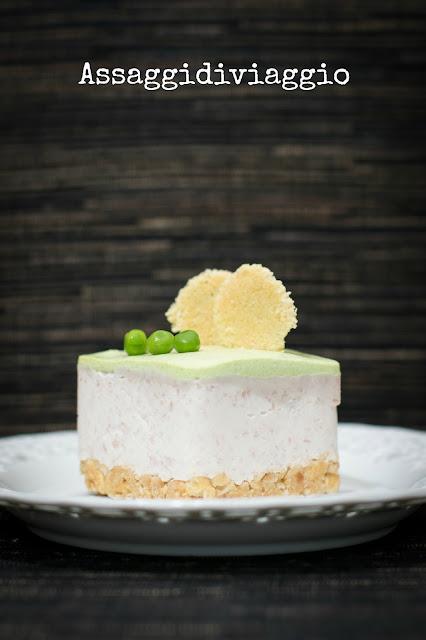 Cheesecake prosciutto cotto e piselli