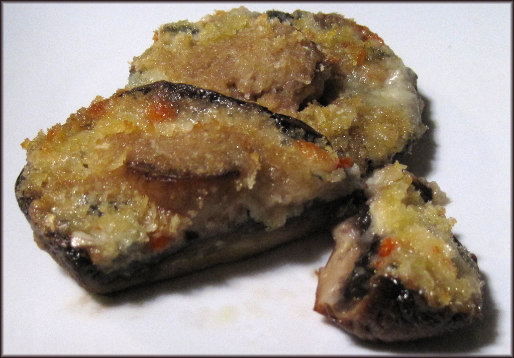Garlic and Blue Cheese Stuffed Portobello Mushrooms