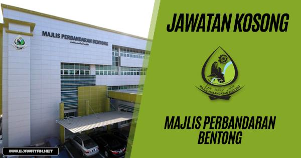 jawatan kosong Majlis Perbandaran Bentong 2019