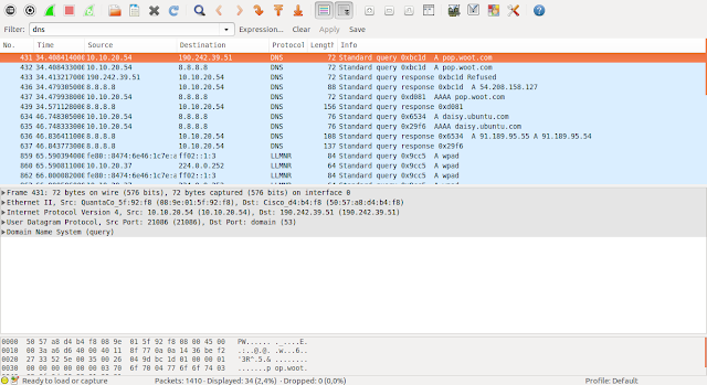 DriveMeca instalando Wireshark