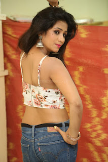 Deekshita Parvathi in a short crop top and Denim Jeans Spicy Pics Beautiful Actress Deekshita Parvathi January 2017 CelebxNext (53).JPG