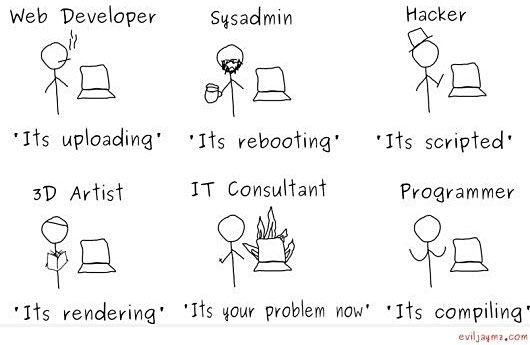 reasons why people who work with computers seem to have a lot of spare time