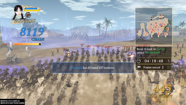 Review Arslan The Warriors of Legend mardan rush ps4