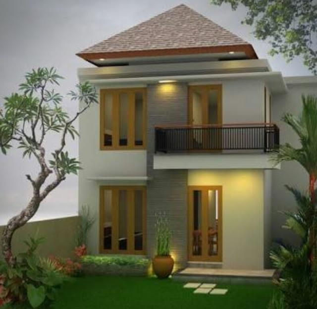 Bentuk Rumah Sederhana tapi Elegan dan Mewah, rumah sederhana kelihatan mewah 2 lantai