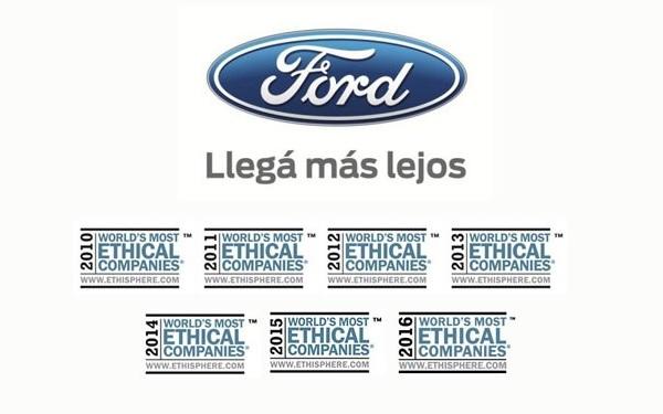 Ford empresa más ética del mundo 2016