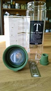 Eisteeflasche - Kaltaufguss von Tee