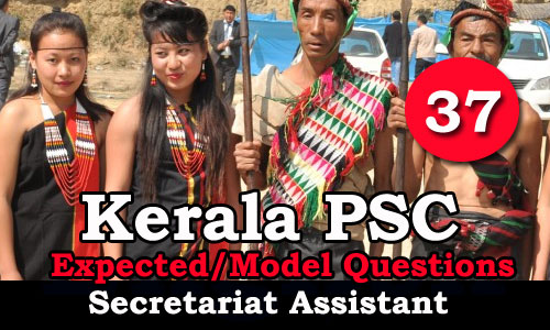 Kerala PSC Secretariat Assistant Model Questions - 37