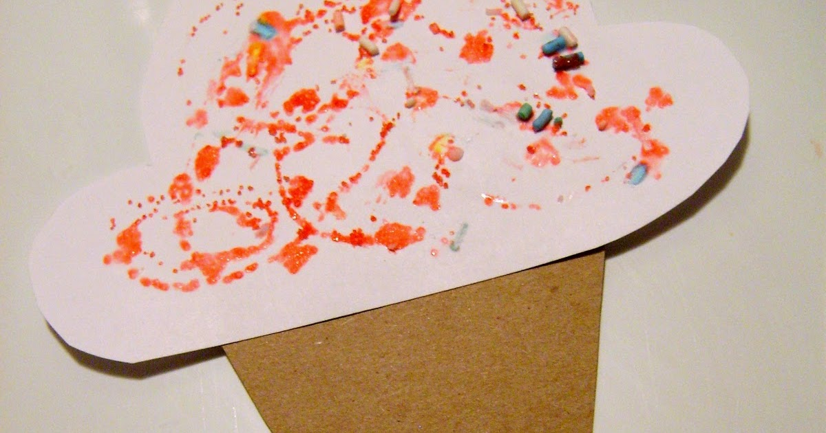 Ice Cream Paper Craft Preschool Crafts For Kids
