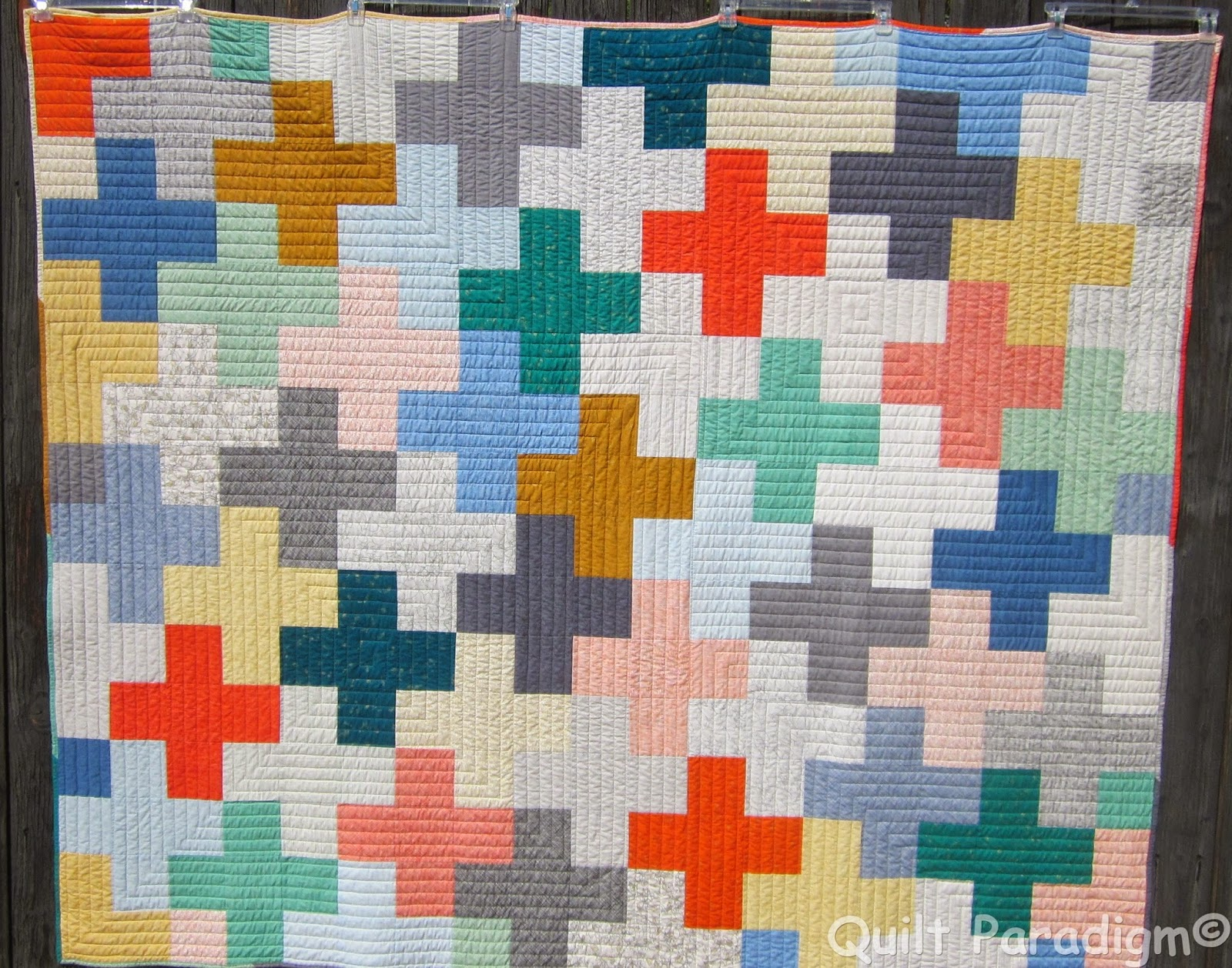 http://quiltparadigm.blogspot.com/2014/07/a-modern-plus-finish.html