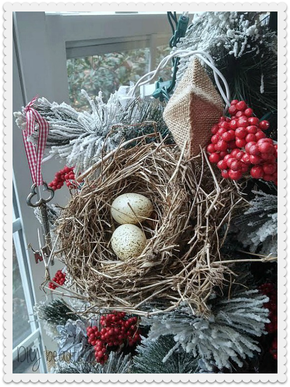 decorate a tree with birds nests!