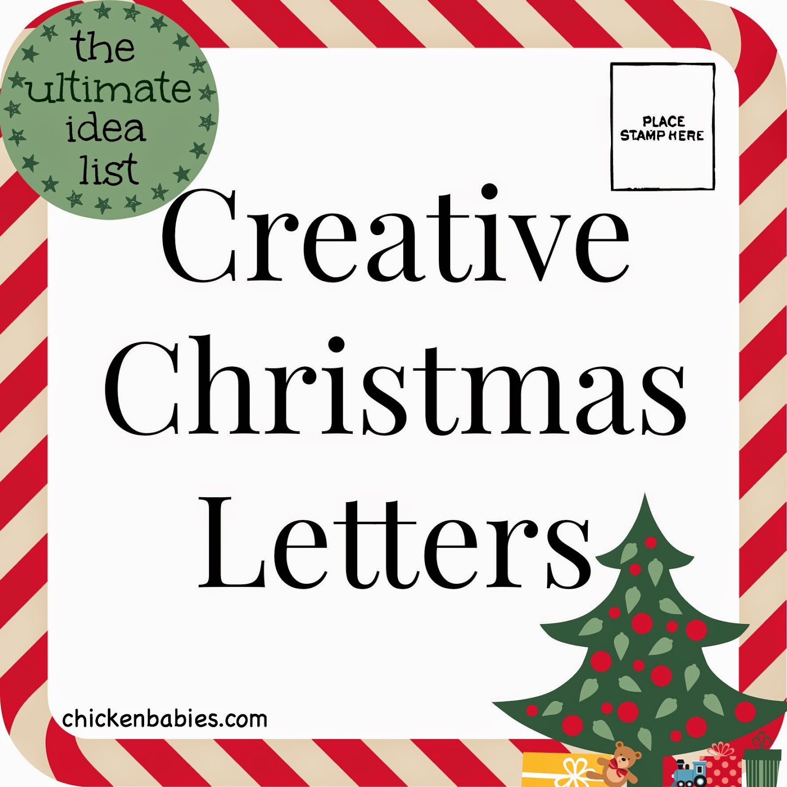 Christmas Letters.Chicken Babies Creative Christmas Letters